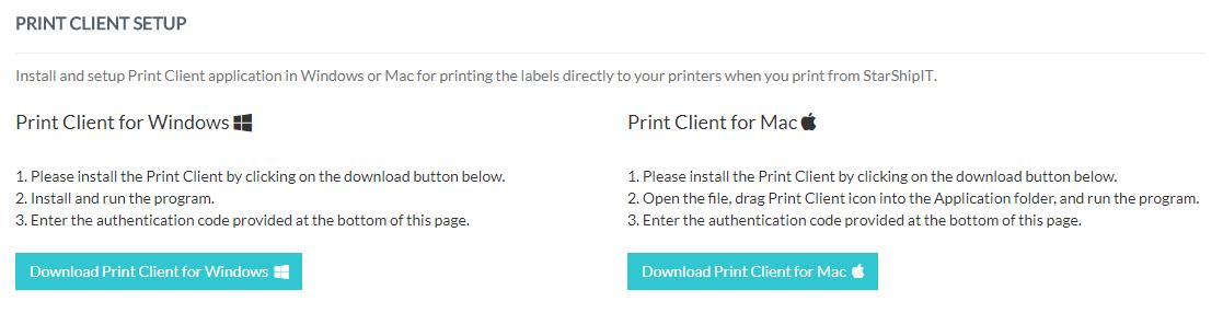 Setting up printing – eShip